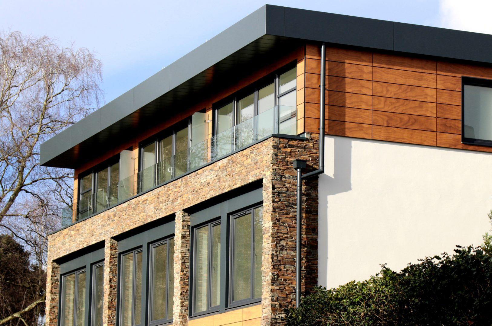 Aluminiumfenster für ein Einfamilienhaus