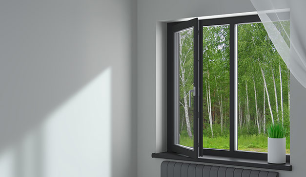 Warme Aluminiumfenster