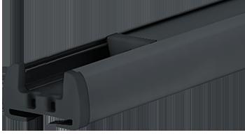 Anthrazitgrau RAL 7016 - Profilfarbe von Plissee-Rollos