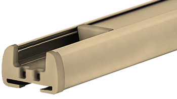 Elfenbein RAL 1014 - Profilfarbe von Plissee-Rollos