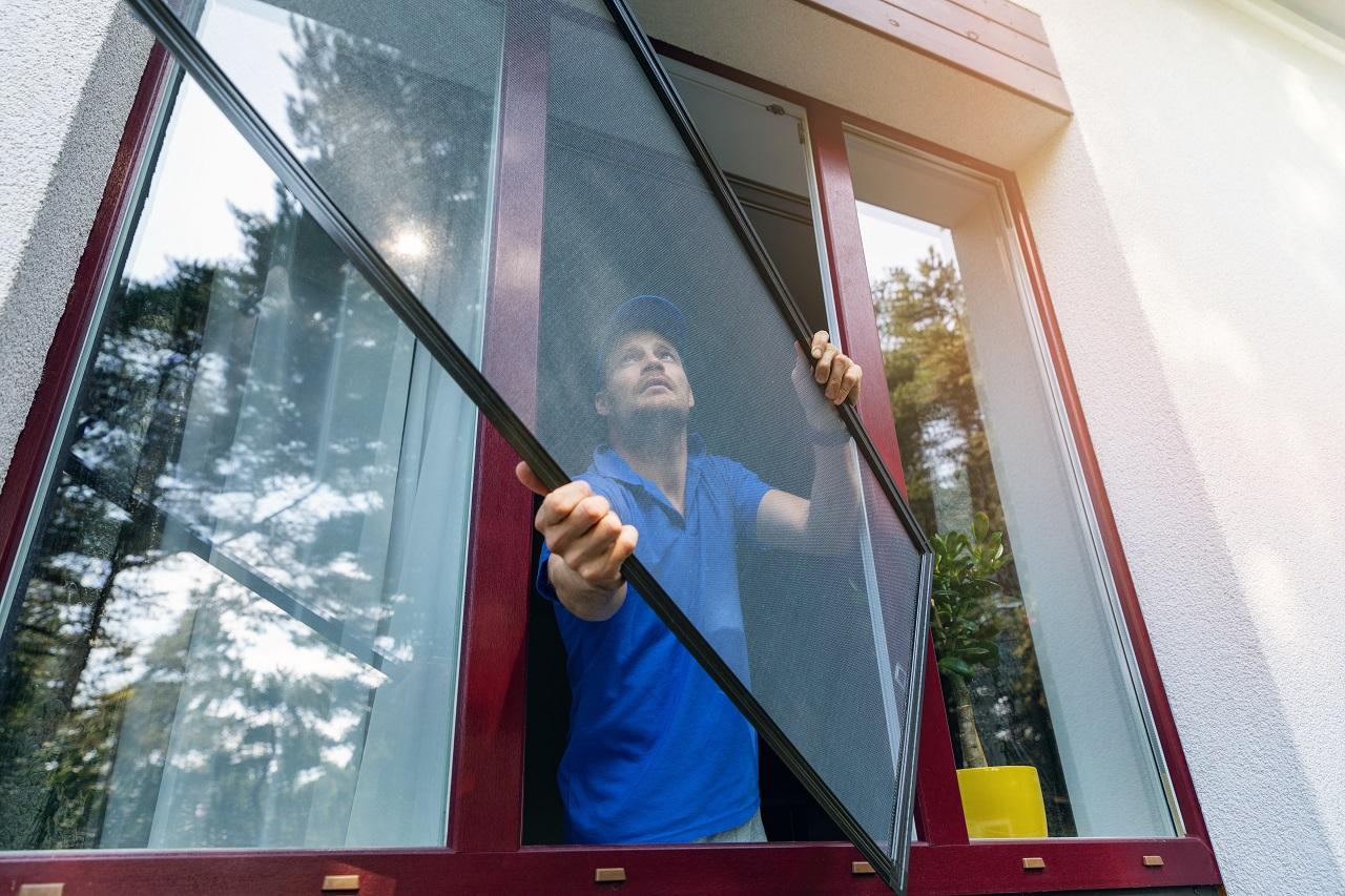 Fenster-Moskitonetze Montage