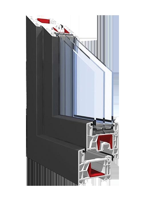 PVC-Fensterprofil KBE 76AD