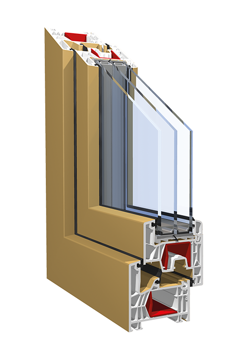 PVC-Fensterprofil KBE 76MD