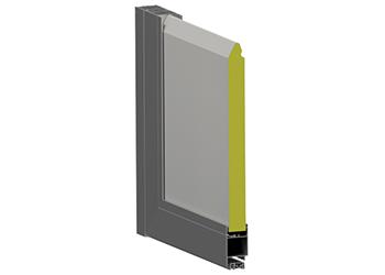 Kalte Aluminiumtüren mit Sektionalpaneel