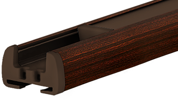 Mahagoni - Profilfarbe von Plissee-Rollos