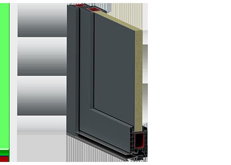 PVC-Außentüren mit Einsatzfüllung