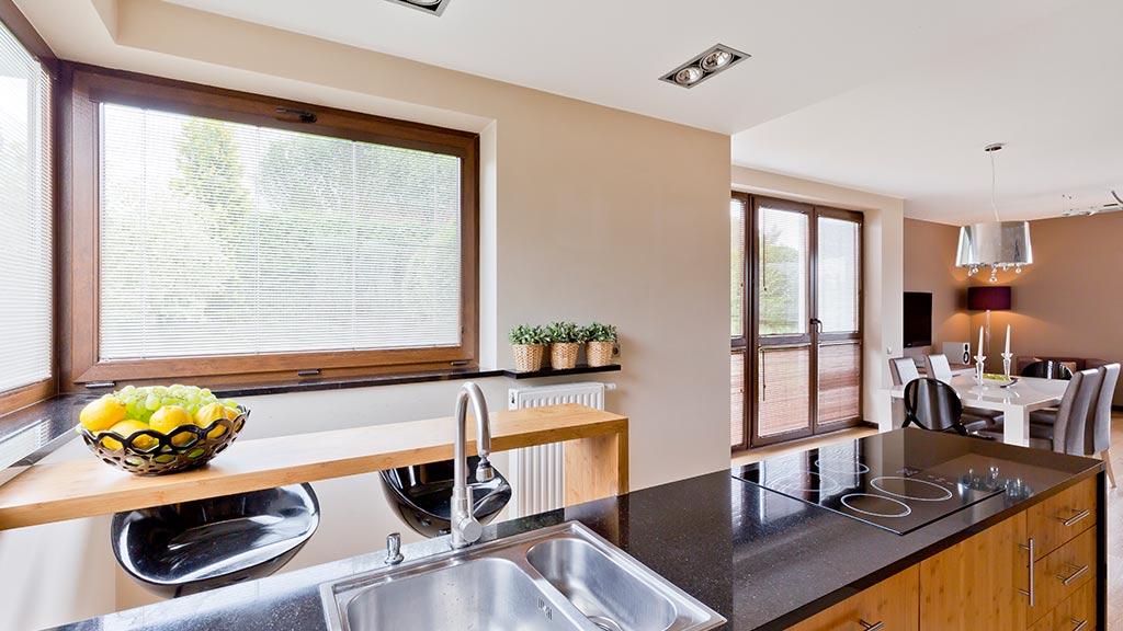 Kunststofffenster Visualisierung der Küche