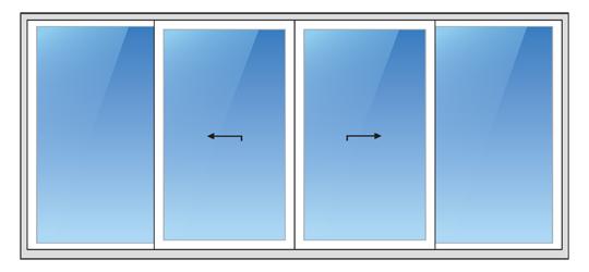 System C zum Öffnen von Terrassentüren und -fenstern