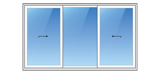 System K zum Öffnen von Terrassentüren und -fenstern