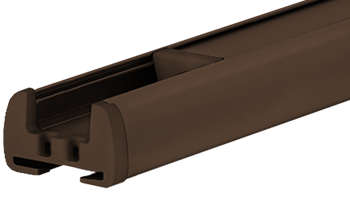 Schokoladenbraun RAL 8028 - Profilfarbe von Plissee-Rollos