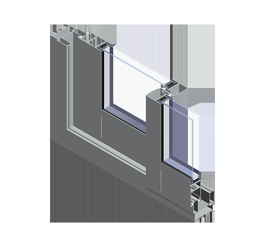 Schieben Sie kalte Fenster und Terrassentüren
