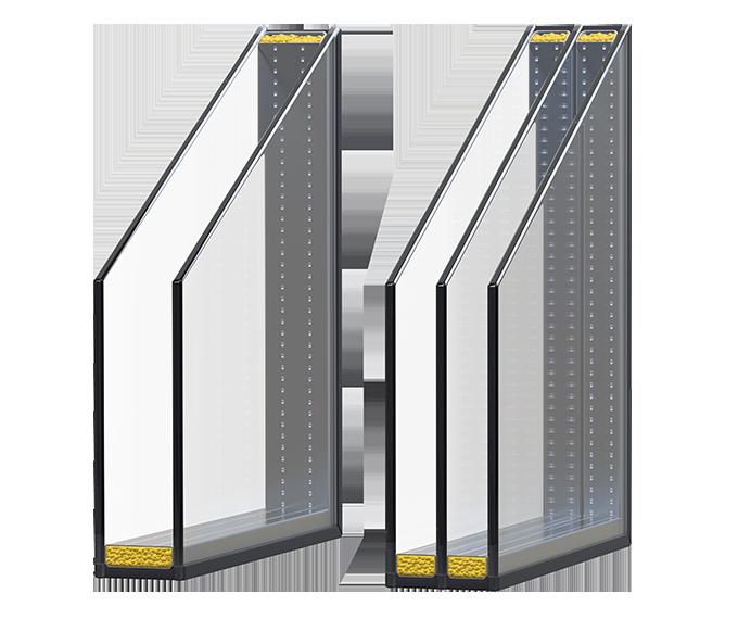 Sichere Fenster in Aluminiumterrassensystemen