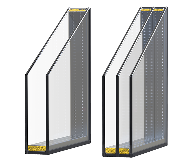Energiesparende Fenster in Aluminiumfenstern