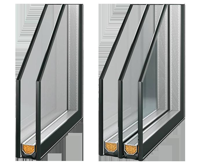 Verglasungspakete in PVC-Fenstern