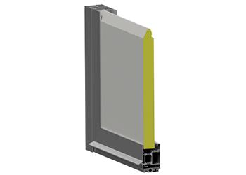 Warme Aluminiumtüren mit Sektionalpaneel
