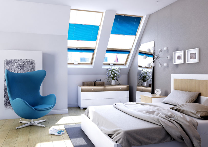 Rolety wewnętrzne okno dachowe