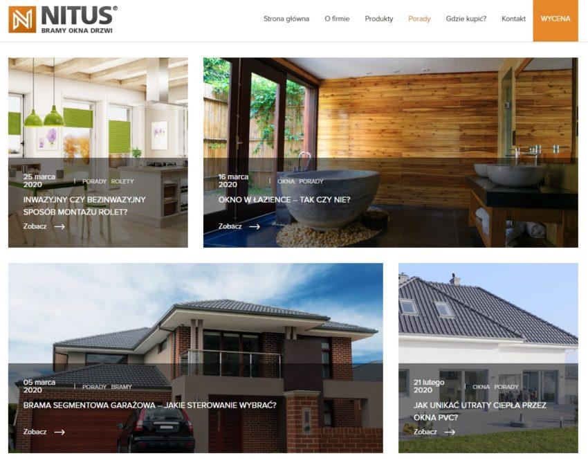 Strona internetowa firmy Nitus